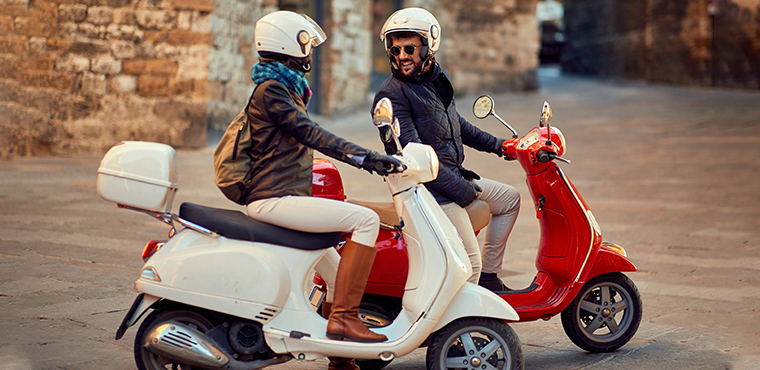 The mythic Vespa Tour of Florence Hills
